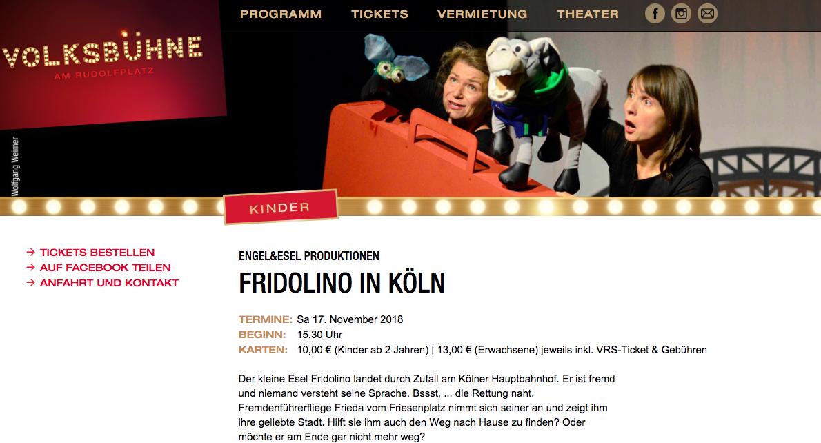 Fridolino in Köln Volksbühne 2018